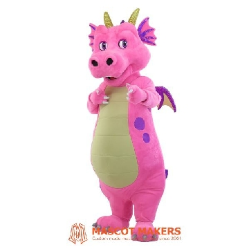 Dragon mascot costume with animatronic eyes