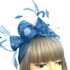 Small Sinamay Flower Teal Fascinator Hair Clip