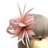 Cream Wedding Hat with Feather Flower