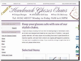 https://www.handmadeglasseschains.co.uk website
