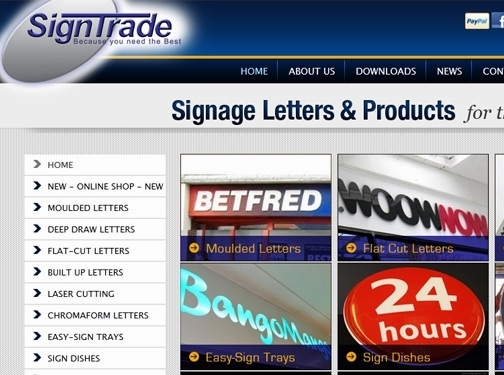 https://www.signtrade.co.uk/ website